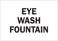 Brady B-302 Polyester Rectangle White Eyewash Sign - 10 in Width x 7 in Height - Laminated - 85352