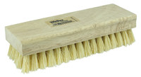 Weiler 440 Square Hand Scrub Brush - White Tampico Coarse Bristle - Hardwood Block - 44024
