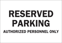 Brady B-555 Aluminum Rectangle White Parking Restriction, Permission & Information Sign - 10 in Width x 7 in Height - 40816