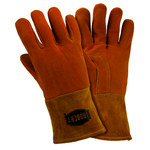 West Chester 6030 Yellow Large Grain Deerskin Leather Welding Glove - Straight Thumb - 12.25 in Length - 6030/L