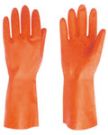 Red Steer 707 Orange Large Latex Work Gloves - 13 in Length - 707-L