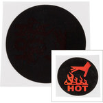 Brady TIL-12-50C-DIA Black/Red Polyester Temperature Indicator Label - 1.46 in Width - 1.46 in Height - +50 C - B-7518