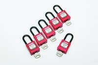 AbilityOne Red Nylon Safety Padlock - AO 5340-01-650-2636