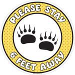 Brady B-4 Vinyl Circle White Safety Awareness Sign - 17 in Width - Self-Adhesive
