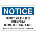 Brady B-586 Paper Rectangle White Accident Notice Sign - 10 in Width x 7 in Height - 116026