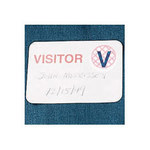 Brady White Identification Label 95109 - Printed Text = VISITOR - Adhesive Backing - 754476-95109