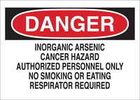 Brady B-555 Aluminum Rectangle White Hazardous Material Sign - 14 in Width x 10 in Height - 43505