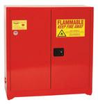 Eagle 40 gal Red Steel Hazardous Material Storage Cabinet - 43 in Width - 44 in Height - Floor Standing - 048441-33230