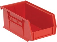 Quantum Storage 10 lb Red Polypropylene Hanging / Stacking Stack Bin - 7 3/8 in Length - 4 1/8 in Width - 3 in Height - 03593