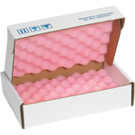 Shipping Supply Pink/White Anti-Static Foam Shippers - 12 in x 8 in x 2 3/4 in - SHP-11812