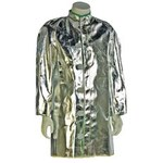 NSA C22NL Silver Large Aluminized Para Aramid Blend Heat & Fire-Resistant Lab Coat - 1 Pockets - 30 in Length - C22NLLG30