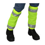 PIP 319-GT1 Hi-Vis Lime Yellow Polyester Gaiters - 17.5 in Inseam - 616314-22047