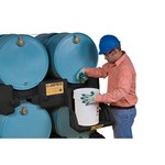 Justrite 28669 Black Ecopolyblend 1500 lb Drum Stacker Shelf - 49 in Width - 46 in Length - 12 in Height - 697841-13455