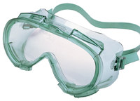Kimberly-Clark Monogoggle V80 Polycarbonate Safety Goggles Clear Lens - Green Frame - Indirect Vent - 711382-01832