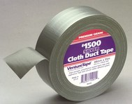 3M Venture Tape 1500 Silver Cloth Duct Tape - 48 mm Width x 55 m Length - 10 mil Thick - 50004