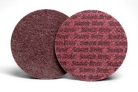 3M Scotch-Brite Non-Woven Aluminum Oxide Maroon Aluminum Surface Conditioning Hook & Loop Disc - Nylon Backing - A Weight - Medium - 1 1/2 in Diameter - 54200