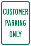Brady B-959 Aluminum Rectangle White Parking Restriction, Permission & Information Sign - 12 in Width x 18 in Height - 112625