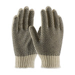 PIP 37-C112PDD Black/White Large Cotton/Polyester General Purpose Gloves - PVC Dotted Both Sides Coating - 37-C112PDD/L