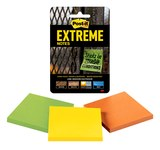 3M Post-it Extreme Assorted Notes Pad - 3 in Overall Length - 3 in Width - 100 Sheets - 07572