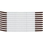 Brady Clip Sleeve SCN15-PLUS Black on White Nylon Clip-On Sleeve - 33937