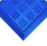 Wearwell Sole-Solution Tall Wall Blue Indoor/Outdoor HDPE Strips Wet Condition Floor Mat - 31 in Width - 38 in Length