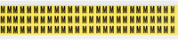 Brady 34 Series 3410-M Black on Yellow Vinyl Cloth Letter Label - Indoor - 11/32 in Width - 1/2 in Height - 3/8 in Character Height - B-498