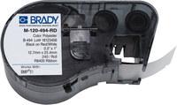 Brady M-120-494-RD Red / White Polyester Die-Cut Thermal Transfer Printer Cartridge - 1 in Width - 0.5 in Height - B-494