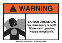Brady B-401 Polystyrene Rectangle White Chemical Warning Sign - 10 in Width x 7 in Height - 106017