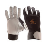 Impacto 403-30 Black/White 9 (L) Lycra/Nylon Anti-Impact Glove - Leather Palm Coating - 6 in Length - 40330110040