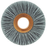 Weiler Silicon Carbide Wheel Brush 0.022 in Bristle Diameter 120 Grit - Arbor Attachment - 2 1/2 in Outside Diameter - 5/8 in Center Hole Size - 29123