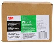 3M PLE-T1 Clear Polyethylene Label Protective Envelope - 4 1/2 in Width - 5 1/2 in Height - Conveniently Packaged - 74924