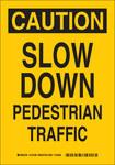 Brady B-555 Aluminum Rectangle Yellow Pedestrian & Crosswalk Sign - 7 in Width x 10 in Height - 124187
