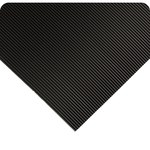 Wearwell 702 Black Vinyl Ribbed Non-Conductive Switchboard Matting - 3 ft Width - 75 ft Length - 715411-29002