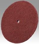 3M Scotch-Brite HS-DC Aluminum Oxide Deburring Disc - Medium Grade - Arbor Attachment - 10 in Diameter - 3/4 in Center Hole - 05318