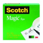 3M Scotch 810 Magic Clear Office Tape - 3/4 in Width x 1296 in Length - 07378