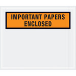 Shipping Supply Tape Logic Orange Important Papers Enclosed Envelopes - 10 in x 12 in - 2 mil Thick - SHP-11603