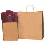 Kraft Shopping Bags - 13 in x 7 in x 13 in - SHP-3902