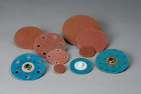 Standard Abrasives Coated A/O Aluminum Oxide AO Quick Change 2 Ply Disc - X Weight - 180 Grit - Very Fine - 3 in Diameter - 529510