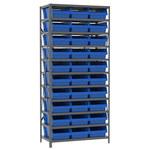 Akro-Mils Fixed Blue Gray Steel 22 ga Open Fixed Shelving - 32 - AS1879018