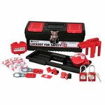 Brady Black Polypropylene Lockout/Tagout Kit - 5.5 in Depth - 7.1 in Height - 754476-00870