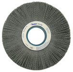 Weiler Silicon Carbide Wheel Brush 0.04 in Bristle Diameter 80 Grit - Arbor Attachment - 8 in Outside Diameter - 2 in Center Hole Size - 83150