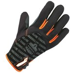 Ergodyne ProFlex 810 Black/Orange Large Polyester Mesh Work Gloves - 17224