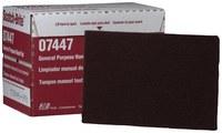 3M Scotch-Brite 07447 Non-Woven Aluminum Oxide General Purpose Hand Pad - Very Fine Grade - 6 in Width x 9 in Length