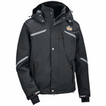Ergodyne N-Ferno 6466 Black Large Nylon Cold Condition Jacket - 5 Pockets - 720476-41114