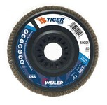 Weiler Non-Woven Type 29 Zirconium Flap Disc - 80 Grit - Medium - 4 1/2 in Diameter - 7/8 in Center Hole - 50004