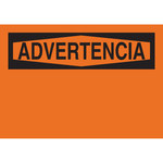 Brady B-555 Aluminum Orange Preprinted Header - 14 in Width x 10 in Height - Language Spanish - 65828