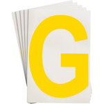 Brady Toughstripe 121732 Yellow Polyester Letter Label - Indoor - 6 in Width - 8 in Height - 8 in Character Height - B-514
