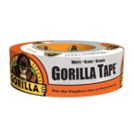 Gorilla White Duct Tape - 1.88 in Width x 30 yd Length - 60250