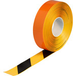 Brady ToughStripe Max Black / Yellow Floor Marking Tape - 2 in Width x 100 ft Length - 0.050 in Thick - 60800