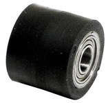 "Dynabrade 11069 Contact Wheel, 7/16"" Dia. x 3/8"" W x 1/4"" I.D., Crown Face, 70 Duro Rubber"